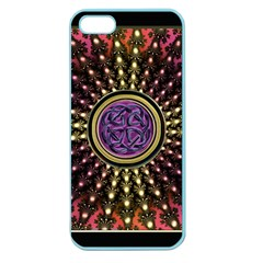 Hot Lavender Celtic Fractal Framed Mandala Apple Seamless iPhone 5 Case (Color)