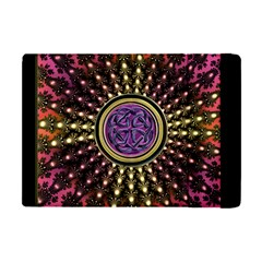 Hot Lavender Celtic Fractal Framed Mandala Apple iPad Mini Flip Case