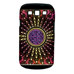 Hot Lavender Celtic Fractal Framed Mandala Samsung Galaxy S Iii Classic Hardshell Case (pc+silicone)