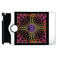 Hot Lavender Celtic Fractal Framed Mandala Apple iPad 2 Flip 360 Case