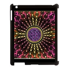 Hot Lavender Celtic Fractal Framed Mandala Apple Ipad 3/4 Case (black)