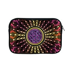 Hot Lavender Celtic Fractal Framed Mandala Apple iPad Mini Zippered Sleeve