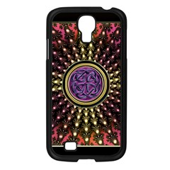 Hot Lavender Celtic Fractal Framed Mandala Samsung Galaxy S4 I9500/ I9505 Case (black)