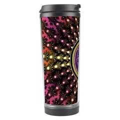 Hot Lavender Celtic Fractal Framed Mandala Travel Tumbler