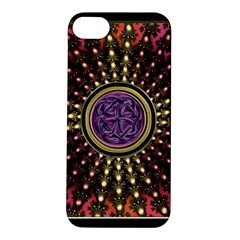 Hot Lavender Celtic Fractal Framed Mandala Apple iPhone 5S Hardshell Case