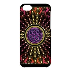 Hot Lavender Celtic Fractal Framed Mandala Apple iPhone 5C Hardshell Case
