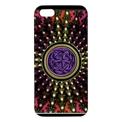 Hot Lavender Celtic Fractal Framed Mandala iPhone 5S Premium Hardshell Case