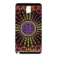 Hot Lavender Celtic Fractal Framed Mandala Samsung Galaxy Note 3 Hardshell Back Case