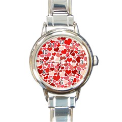 Pretty Hearts  Round Italian Charm Watch