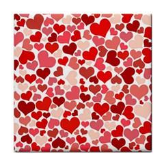 Pretty Hearts  Ceramic Tile