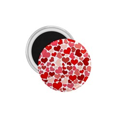 Pretty Hearts  1.75  Button Magnet