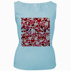 Pretty Hearts  Women s Tank Top (Baby Blue)