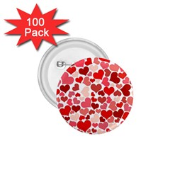 Pretty Hearts  1.75  Button (100 pack)