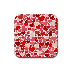 Pretty Hearts  Drink Coasters 4 Pack (Square)