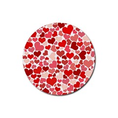 Pretty Hearts  Drink Coasters 4 Pack (Round)
