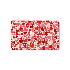 Pretty Hearts  Magnet (Name Card)