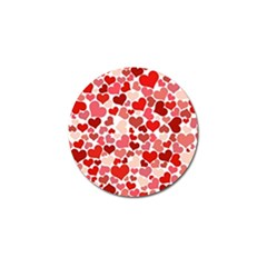 Pretty Hearts  Golf Ball Marker 4 Pack