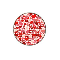 Pretty Hearts  Golf Ball Marker 4 Pack (for Hat Clip)