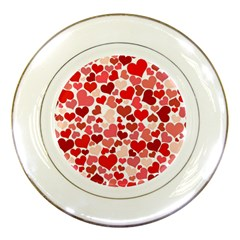 Pretty Hearts  Porcelain Display Plate