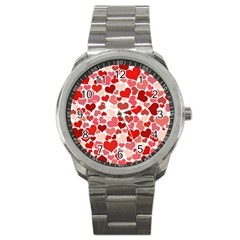 Pretty Hearts  Sport Metal Watch