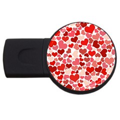 Pretty Hearts  4GB USB Flash Drive (Round)