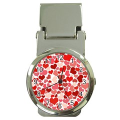 Pretty Hearts  Money Clip with Watch