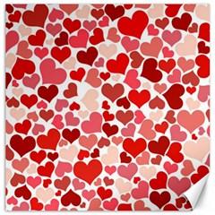 Pretty Hearts  Canvas 16  x 16  (Unframed)