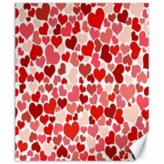 Pretty Hearts  Canvas 20  x 24  (Unframed)
