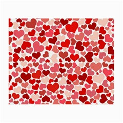 Pretty Hearts  Glasses Cloth (small, Two Sided)