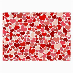 Pretty Hearts  Glasses Cloth (Large, Two Sided)