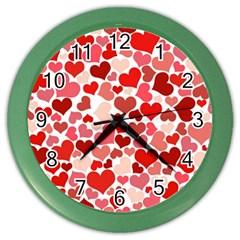 Pretty Hearts  Wall Clock (Color)