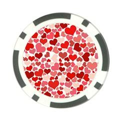 Pretty Hearts  Poker Chip
