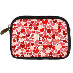 Pretty Hearts  Digital Camera Leather Case