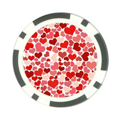 Pretty Hearts  Poker Chip (10 Pack)