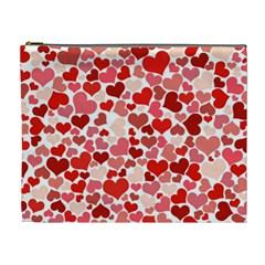 Pretty Hearts  Cosmetic Bag (XL)