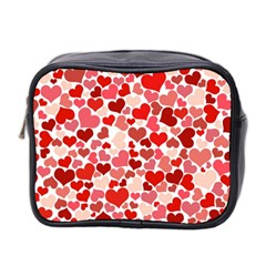Pretty Hearts  Mini Travel Toiletry Bag (Two Sides)