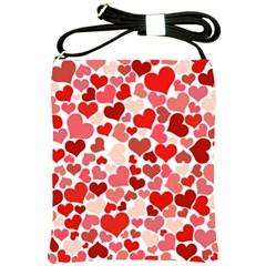 Pretty Hearts  Shoulder Sling Bag
