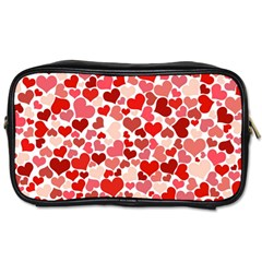 Pretty Hearts  Travel Toiletry Bag (one Side)