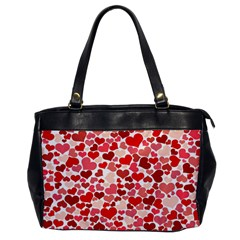 Pretty Hearts  Oversize Office Handbag (one Side)