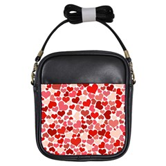 Pretty Hearts  Girl s Sling Bag