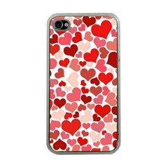 Pretty Hearts  Apple Iphone 4 Case (clear)