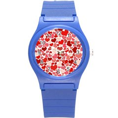Pretty Hearts  Plastic Sport Watch (Small)