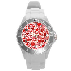 Pretty Hearts  Plastic Sport Watch (Large)