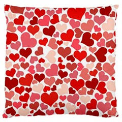 Pretty Hearts  Large Cushion Case (Two Sided)