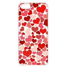 Pretty Hearts  Apple iPhone 5 Seamless Case (White)