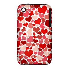 Pretty Hearts  Apple Iphone 3g/3gs Hardshell Case (pc+silicone)