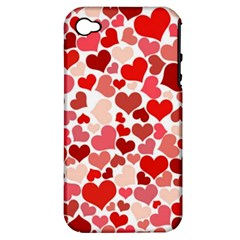 Pretty Hearts  Apple Iphone 4/4s Hardshell Case (pc+silicone)