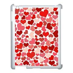 Pretty Hearts  Apple iPad 3/4 Case (White)