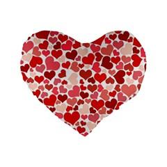 Pretty Hearts  16  Premium Heart Shape Cushion