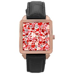 Pretty Hearts  Rose Gold Leather Watch